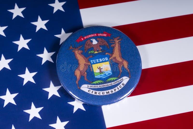 El estado de Michigan en los E.E.U.U. fotografía de archivo