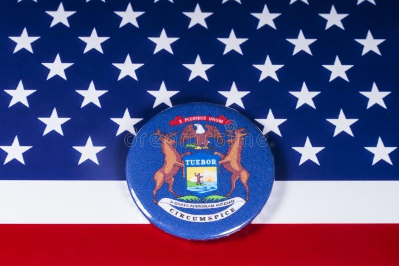 El estado de Michigan en los E.E.U.U. fotografía de archivo libre de regalías