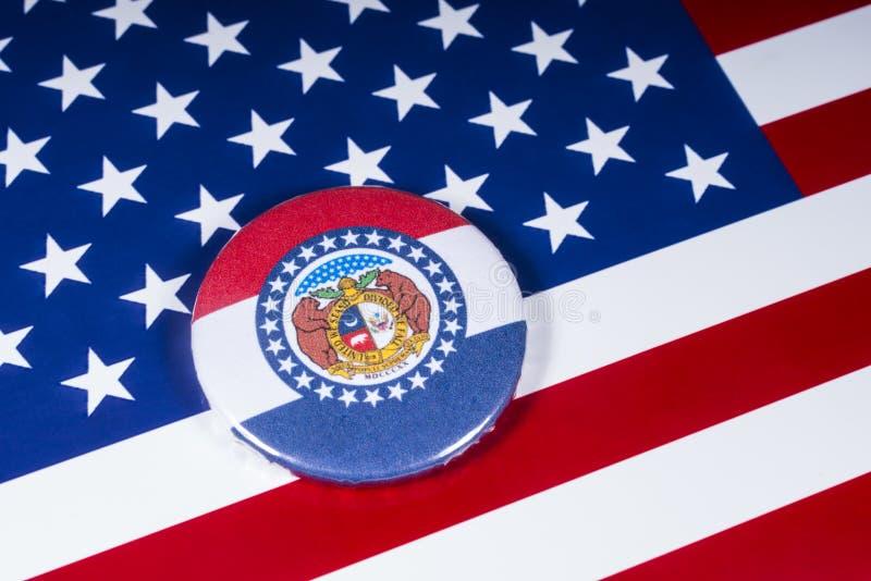 El estado de Missouri en los E.E.U.U. imagen de archivo