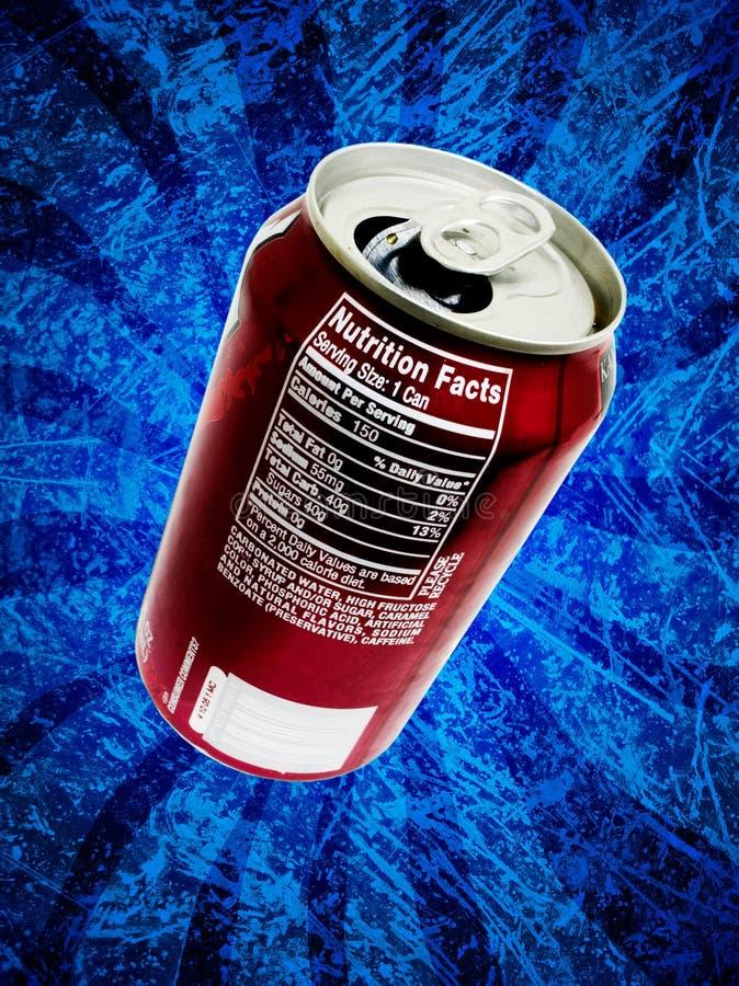 El estallido de soda puede los hechos de la nutrición libre illustration