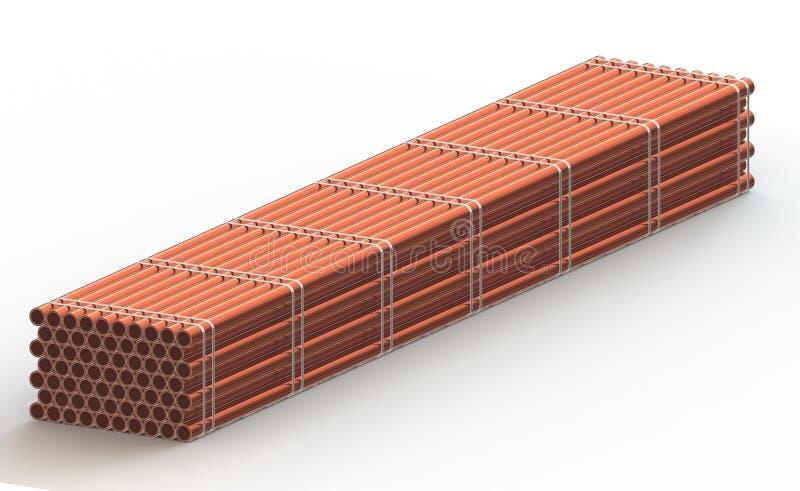 El estante de la tubería de acero, 3d rinde libre illustration