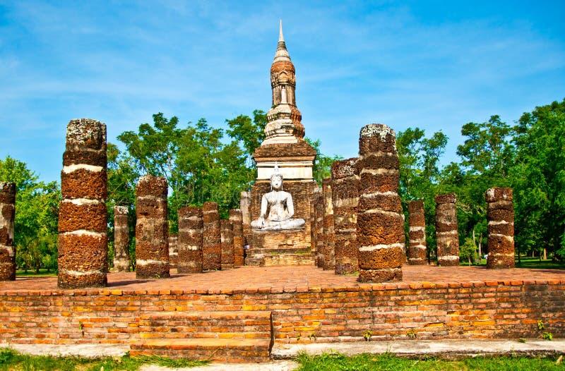 El Estatus De Buddha Del Parque Histórico De Sukkothai Imagen de archivo libre de regalías