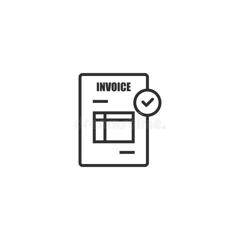 El estilo del esquema del icono de la factura del documento aisló 3 libre illustration