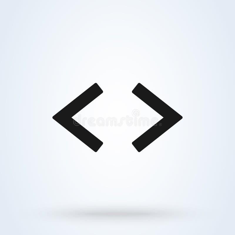 El estilo plano de las flechas izquierdas y derechas Icono aislado en el fondo blanco Ilustraci?n del vector libre illustration
