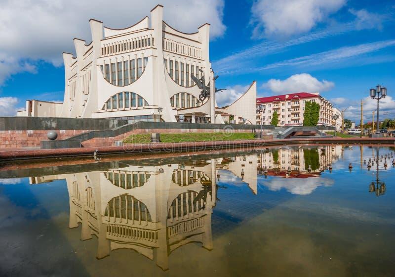 El estilo soviético Grodno, Bielorrusia imágenes de archivo libres de regalías