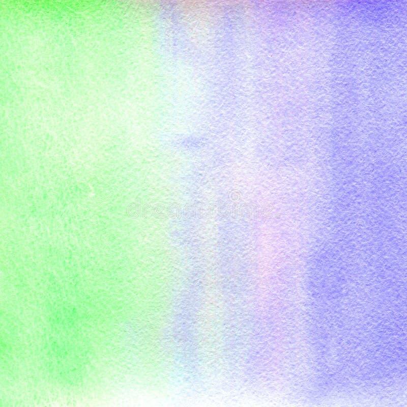 El estirar vertical de la textura de la acuarela de tonalidades verdes claras y azules transparentes Ilustración libre illustration