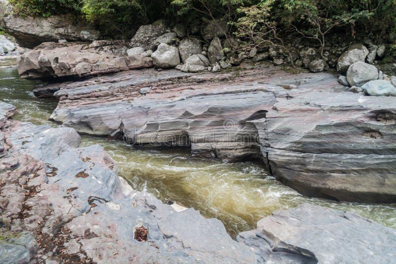 EL Estrecho, verengt vom Fluss Magdalena stockfoto