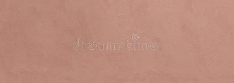 El estuco pintó el fondo de la textura de la pared, color marrón beige, bandera fotografía de archivo libre de regalías
