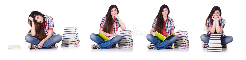 El estudiante joven aislado en el blanco fotos de archivo libres de regalías