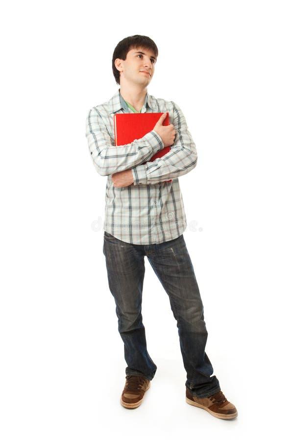 El estudiante joven aislado en un blanco fotos de archivo libres de regalías