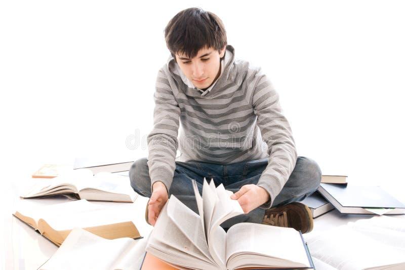 El Estudiante Joven Aislado En Un Blanco Fotografía De Archivo Gratis