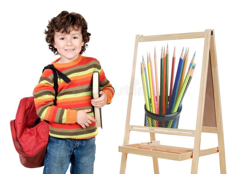 El estudiar del niño imagen de archivo libre de regalías
