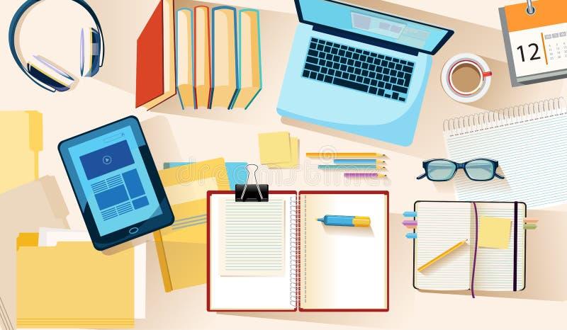 El estudiar y educación ilustración del vector