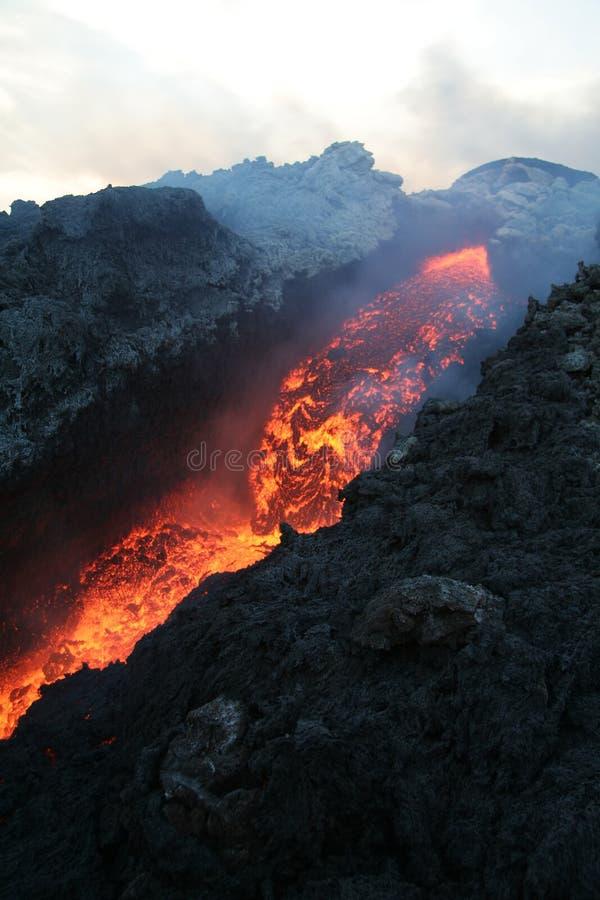 El Etna 11 vulcan. imagen de archivo