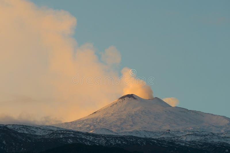 El Etna vulcan fotografía de archivo