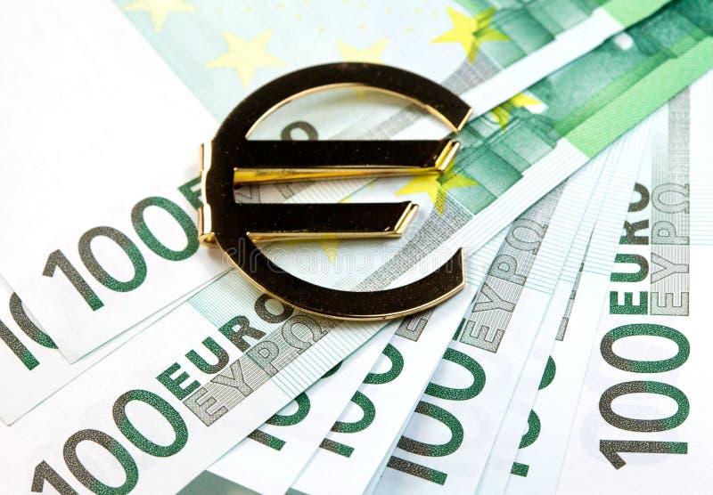 El euro del dinero foto de archivo