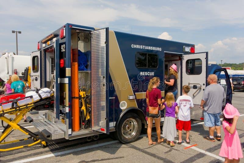 El evento del tacto-uno-camión en el christiansburg en el verano imágenes de archivo libres de regalías