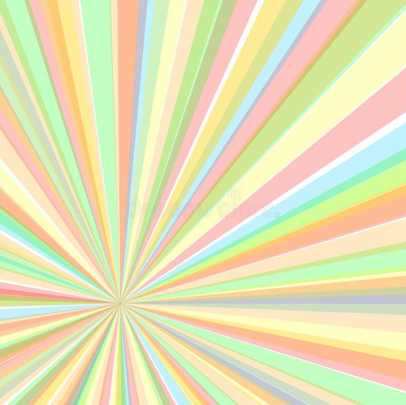 El excéntrico irradia el fondo, ejemplo del vector ilustración del vector
