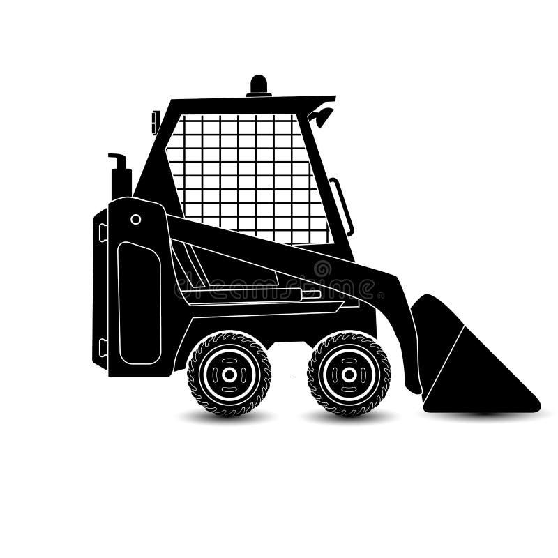 El excavador compacto aislado vector stock de ilustración