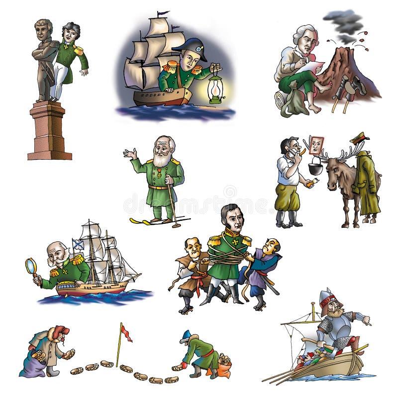 El explorador celebrado en el ártico stock de ilustración