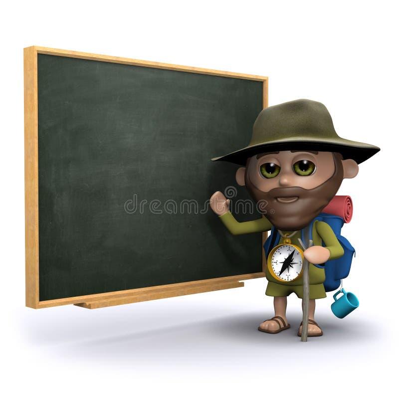 el explorador 3d enseña en la pizarra libre illustration