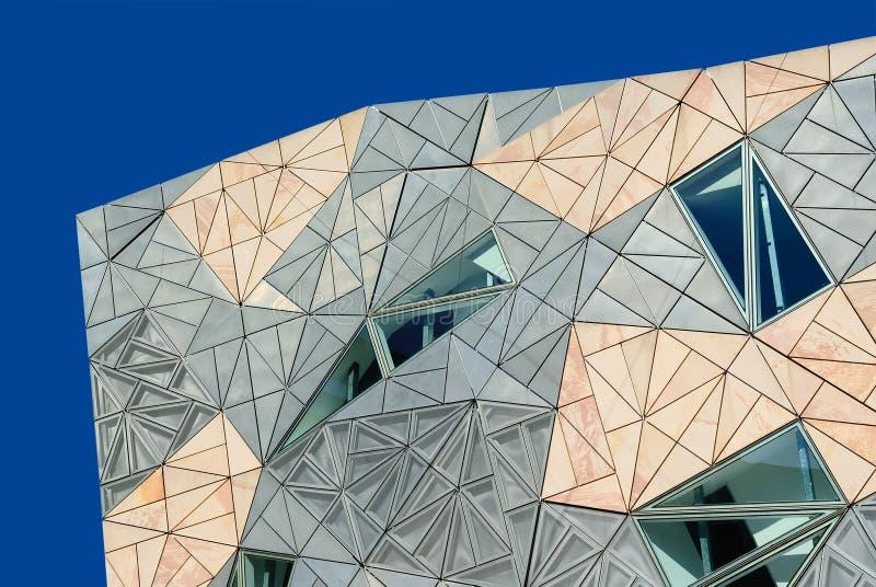El exterior de un edificio moderno fotografía de archivo