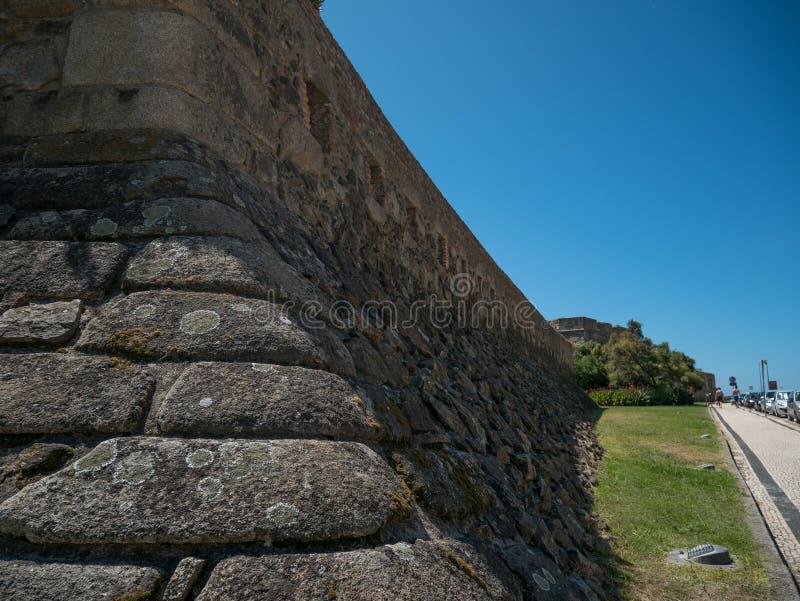 El exterior del fuerte/del castillo napoleónicos en Foz hace el Duero, Oporto, Portugal imagen de archivo libre de regalías