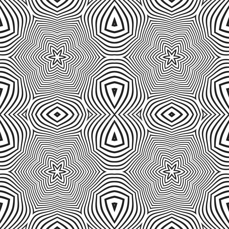 El extracto óptico del arte protagoniza el modelo inconsútil del deco ilustración del vector