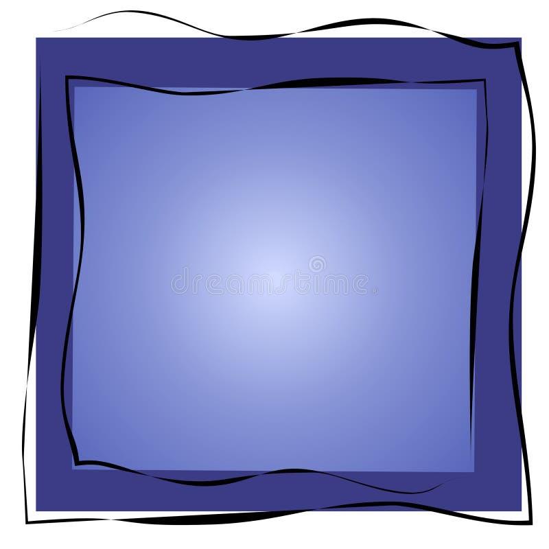 El extracto ajusta dimensiones de una variable azules stock de ilustración