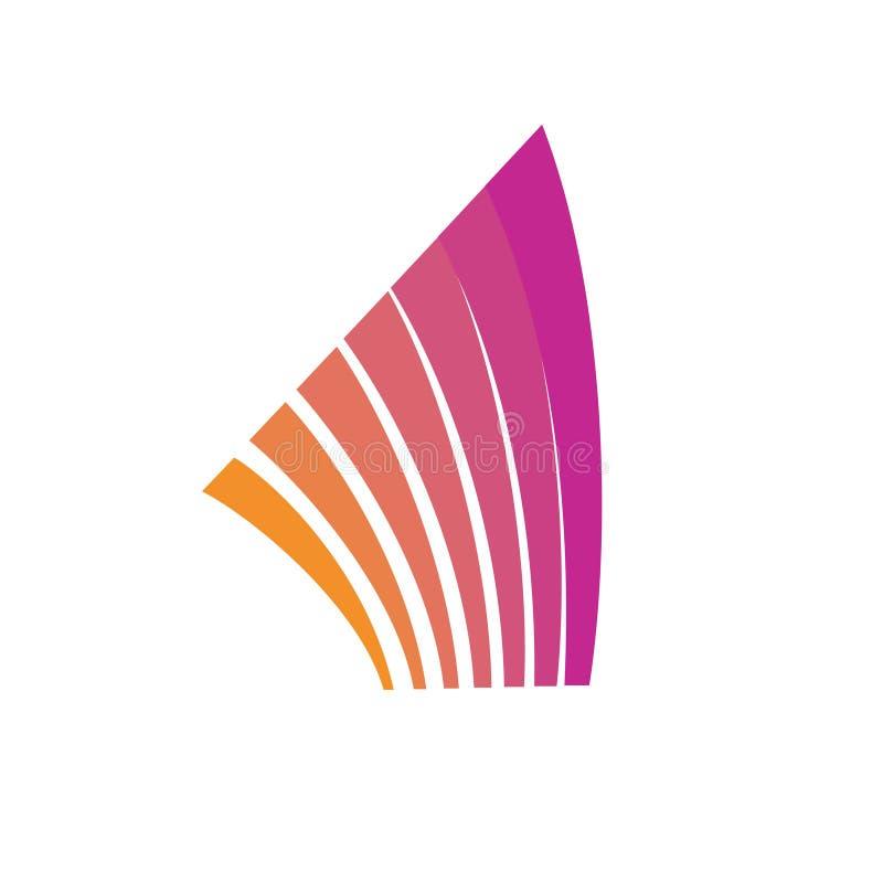 El extracto alinea la plantilla del logotipo Elemento de la arquitectura libre illustration