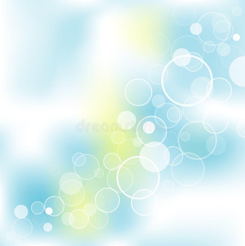 El extracto burbujea fondo ilustración del vector