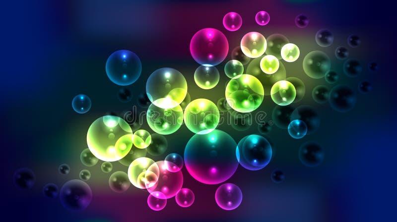 El extracto burbujea fondo stock de ilustración