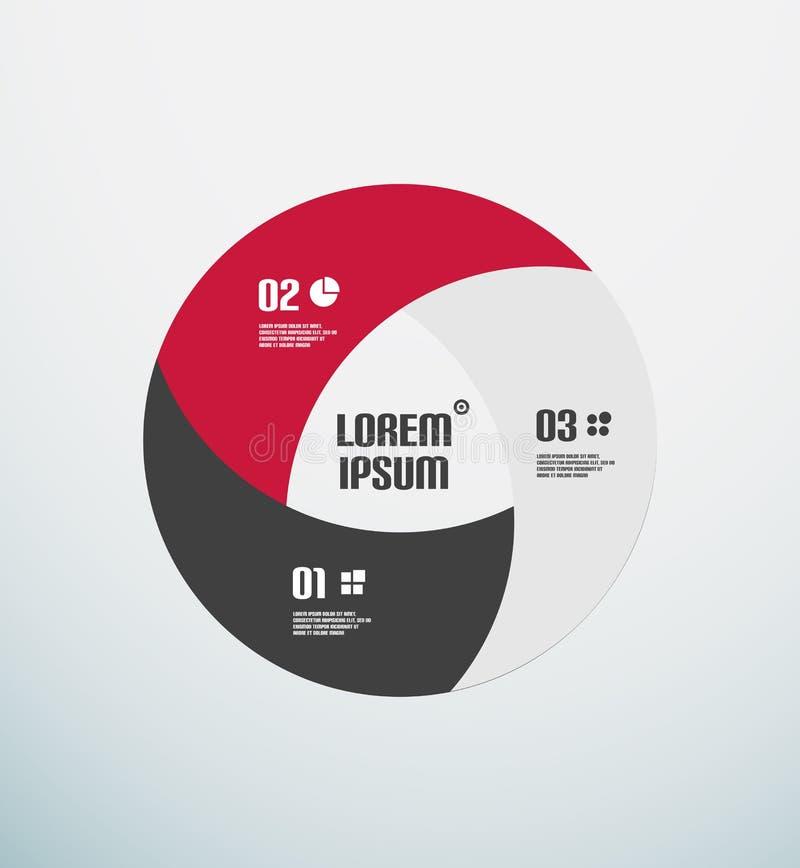 El extracto circunda la plantilla colorida infographic stock de ilustración