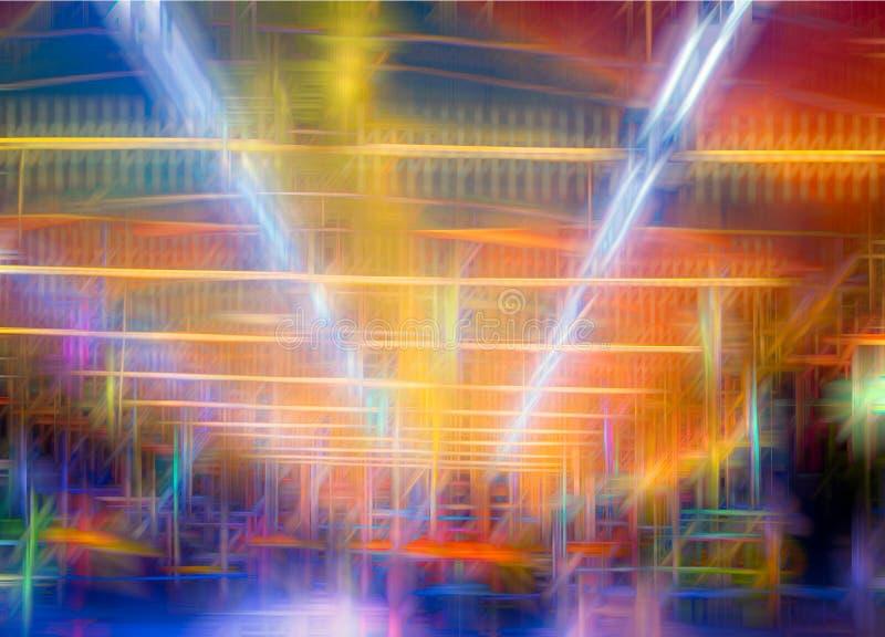 El extracto colorido alinea el fondo Líneas lisas abstractas ilustración del vector