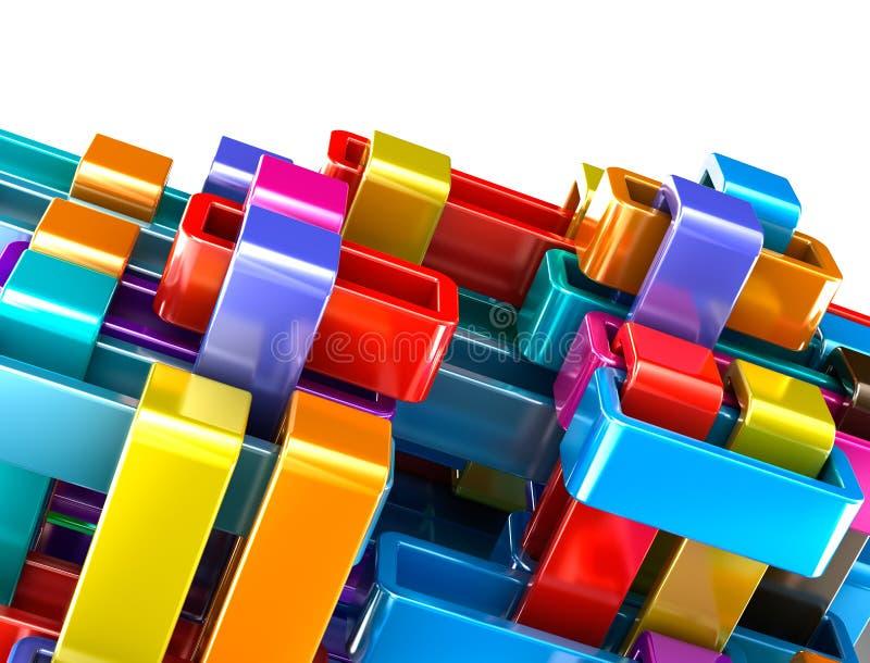 El extracto colorido bloquea el fondo libre illustration