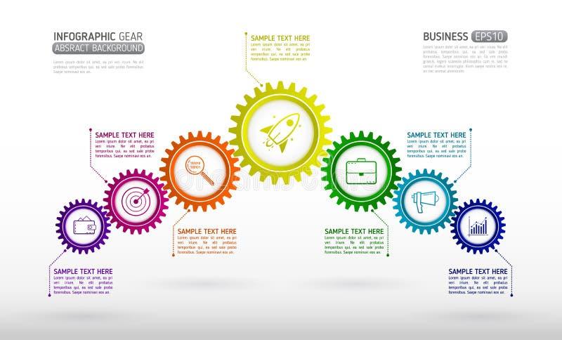 El extracto conectado adapta infographics del negocio del estilo Communicat libre illustration