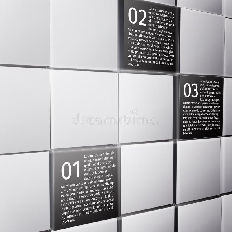 El extracto cubica elementos infographic del diseño libre illustration