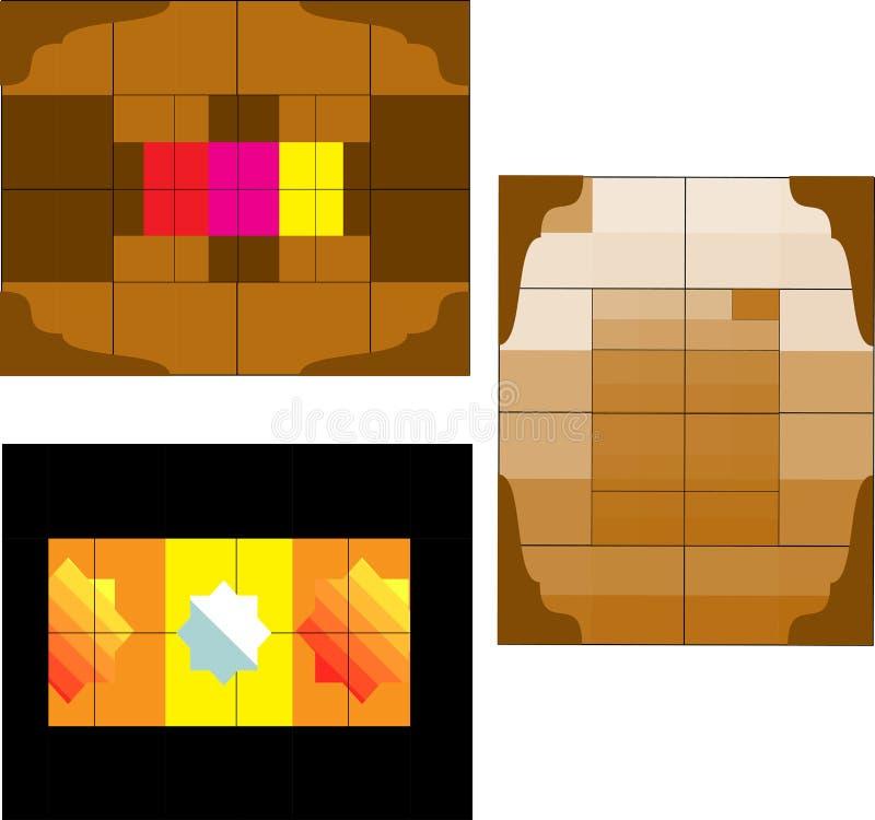 El extracto cubica el fondo stock de ilustración