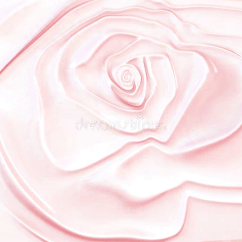El extracto 3d subió textura ondulada de la belleza de la perla Fondo rosado Wedding stock de ilustración