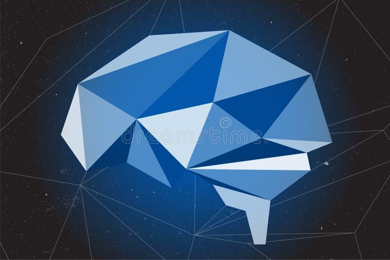 El extracto del gráfico del cerebro usando polígono y la geometría forman libre illustration