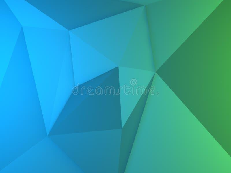 El extracto detallado del polígono bajo forma el fondo stock de ilustración