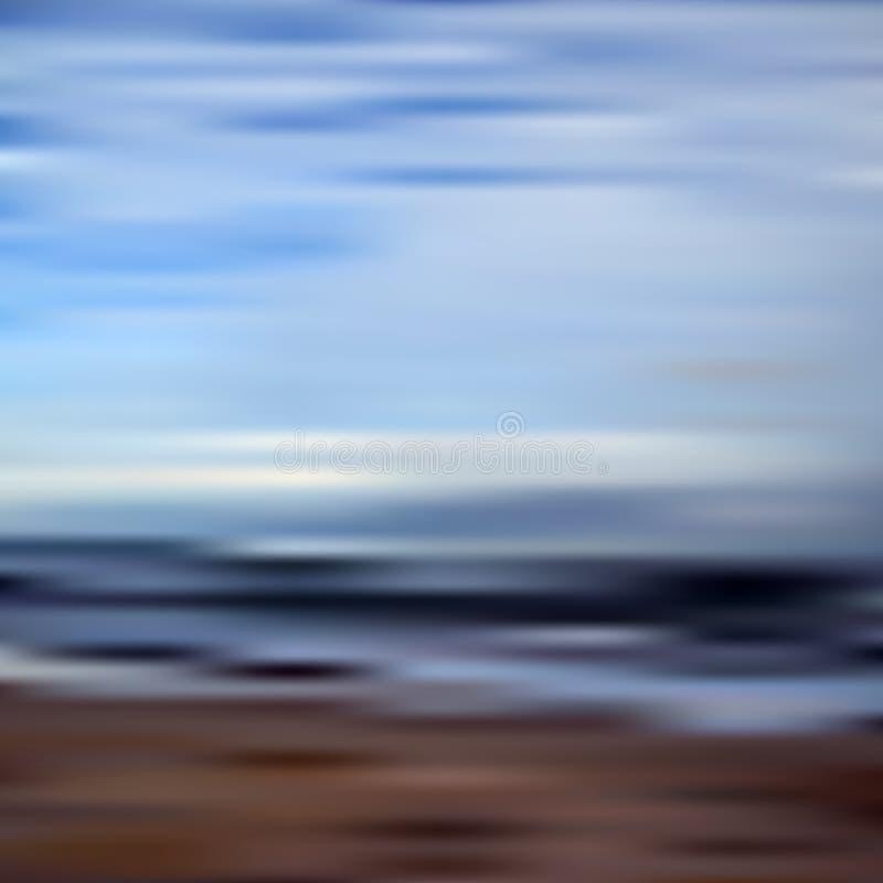 El extracto empañó el cielo y la playa unfocused eps10 del vector del bokeh libre illustration