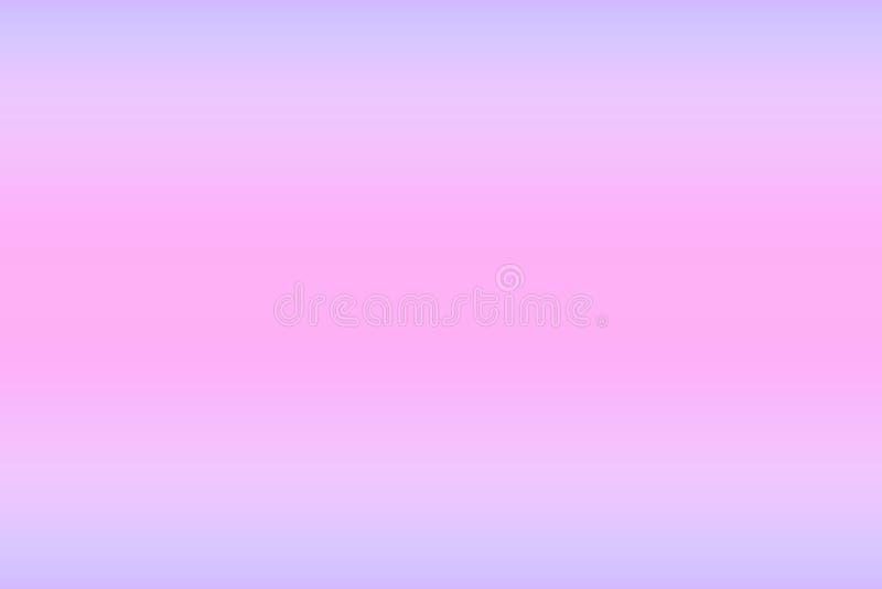 El extracto empañó el fondo multicolor de la pendiente con la gradación lisa de colores en colores pastel azules rosados fríos Pl stock de ilustración