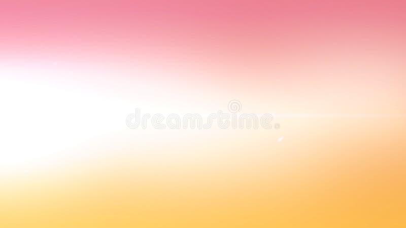 El extracto en colores pastel de la puesta del sol del vintage de la pendiente nublada suave del color empa?? el fondo hermoso en imagen de archivo libre de regalías
