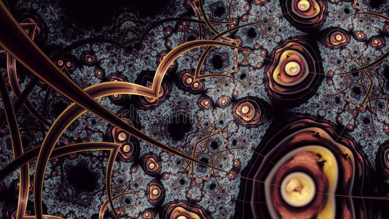 El extracto enajenó arte del fractal del reino ilustración del vector
