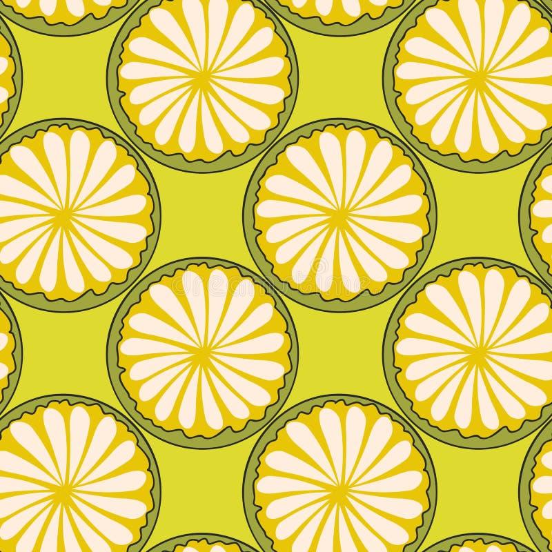 El extracto exhausto de la mano cortó círculos de agrios en fondo verde inglés libre illustration