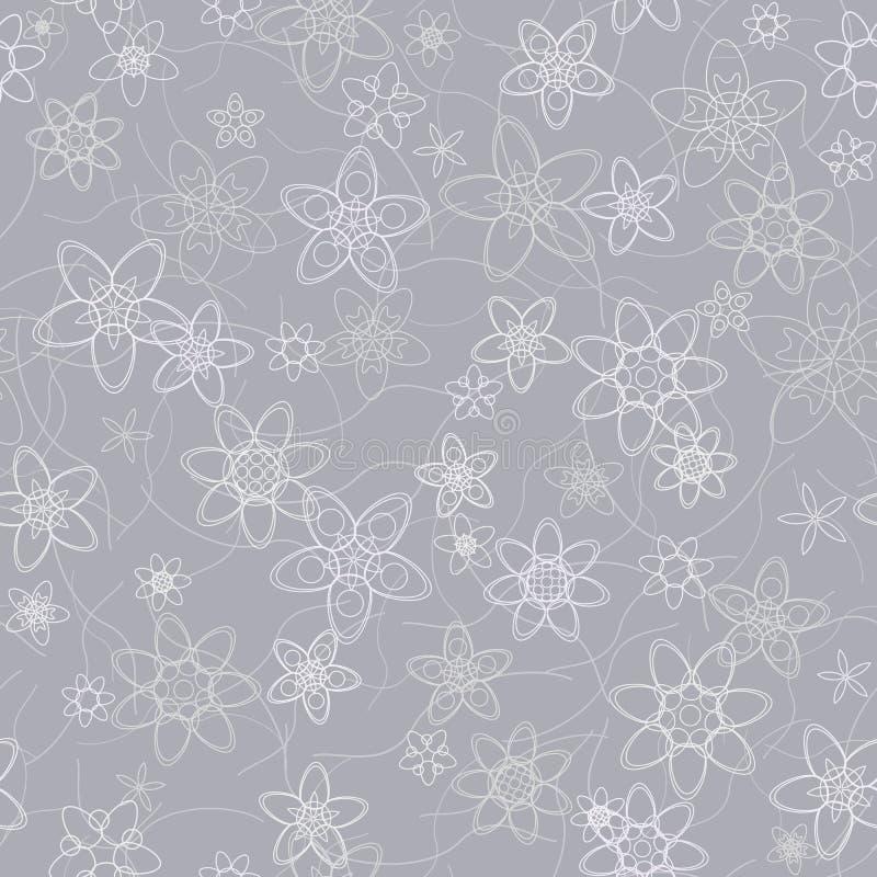 El extracto florece el fondo inconsútil gris floral libre illustration
