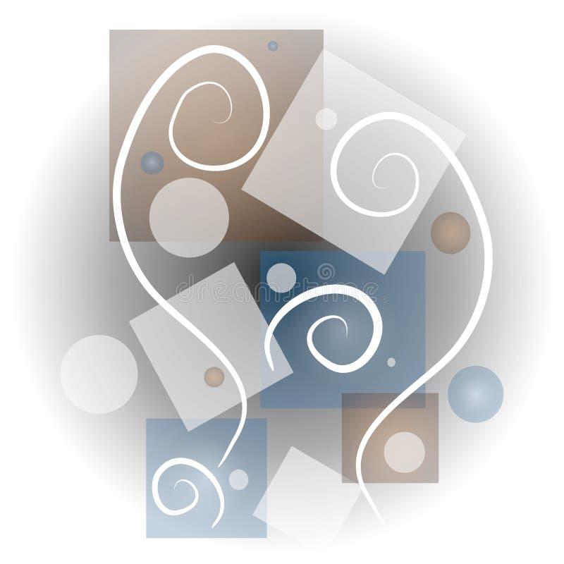 El extracto forma el arte 3 del collage ilustración del vector
