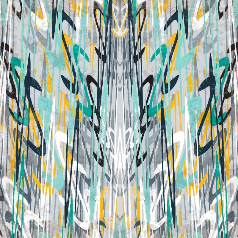 El extracto hermoso colorido agita en un estilo retro en el ejemplo gris del vector del efecto del grunge del fondo ilustración del vector