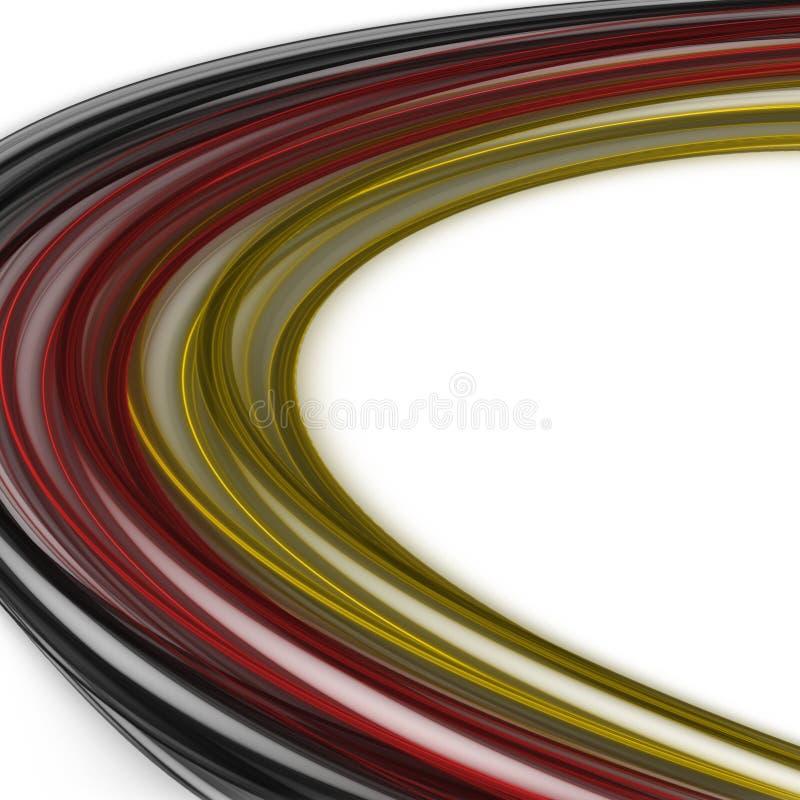 El extracto ilustró el diseño alemán del color para los acontecimientos deportivos stock de ilustración